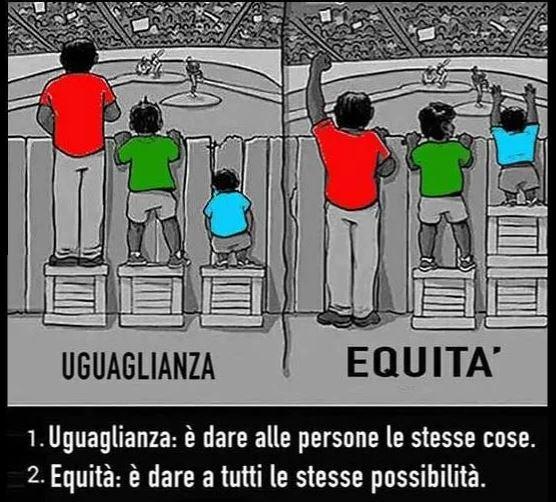 Uguaglianza: è dare a tutte