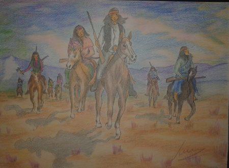 Due amici che camminano nel deserto